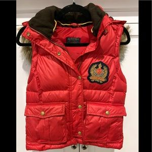 Ralph Lauren polo down filled vest faux fur